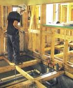 つなみ被害の建物に使用したホウ酸塩防腐シロアリ駆除剤+カビ取り強化剤処理の現場